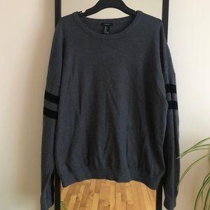 F21 Dark Gray Crewneck Sweater